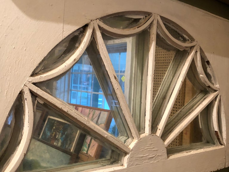 Vintage Federal Style Palladium Mirrored Window For Sale 6