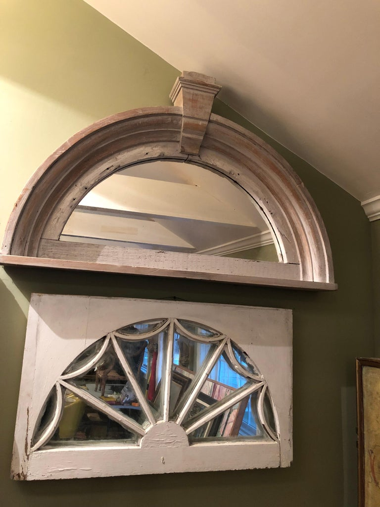 Vintage Federal Style Palladium Mirrored Window For Sale 3