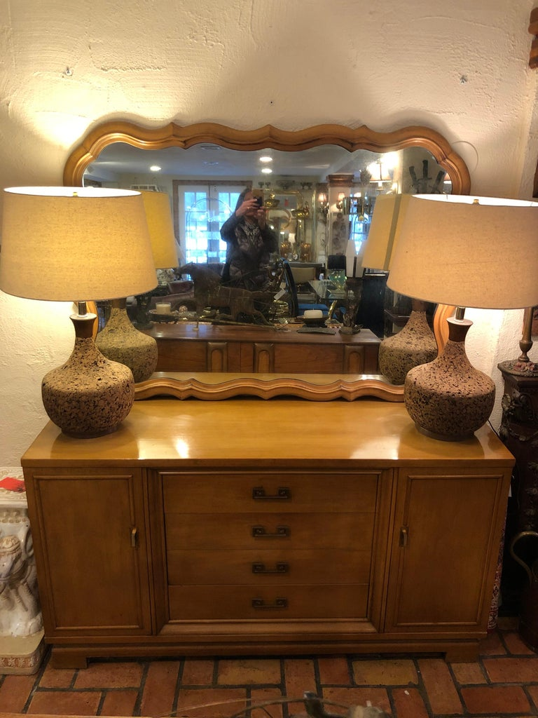Large Scalloped Fruitwood Mirror 1