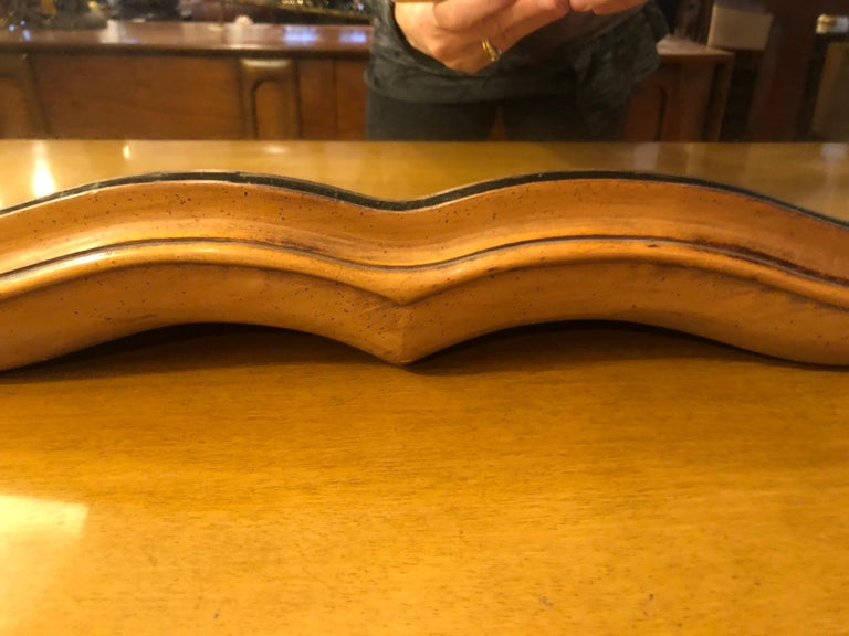 Large Scalloped Fruitwood Mirror 8