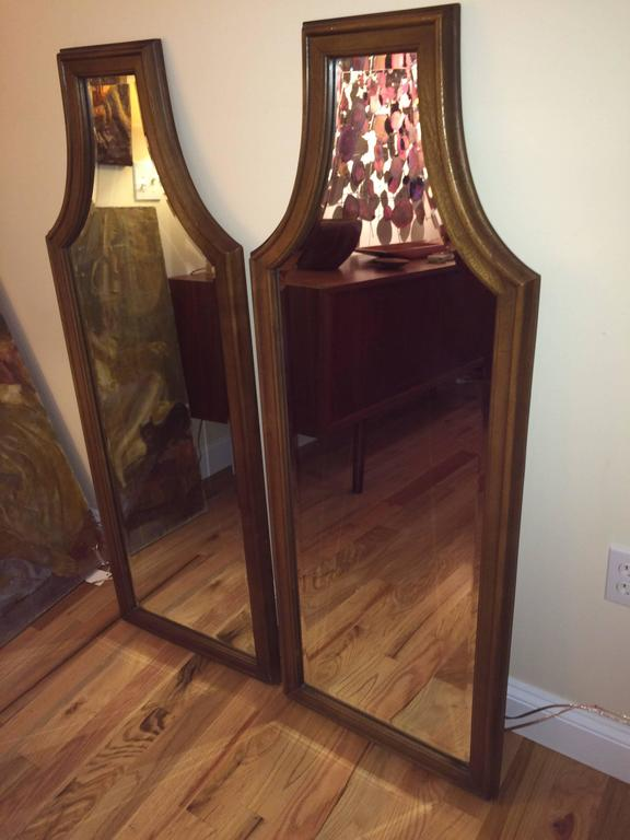 Pair of Hollywood Regency Mirrors In Good Condition In Redding, CT
