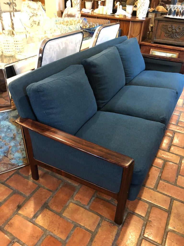 Broderna Anderssons Rosewood Sofa For Sale 1