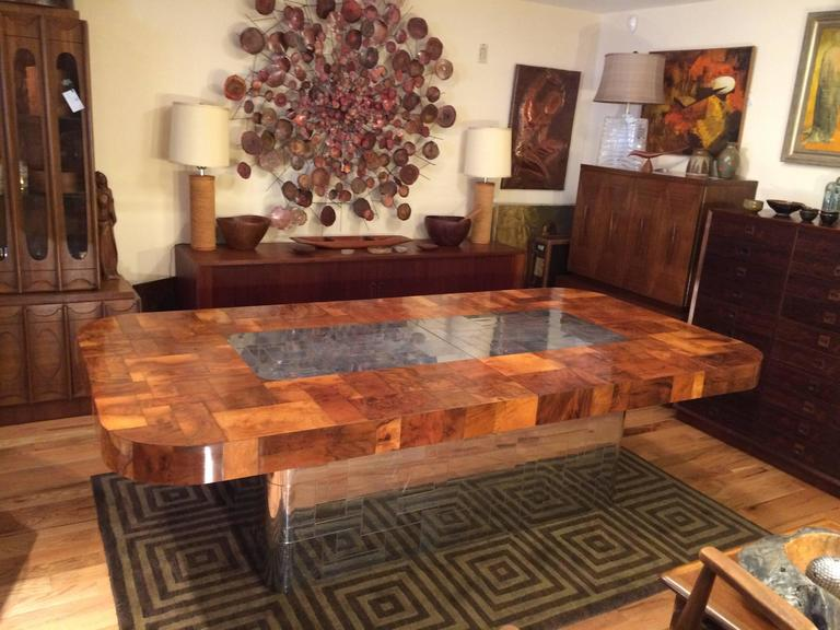 Mid-Century Modern Paul Evans Cityscape Dining Table for Directional For Sale