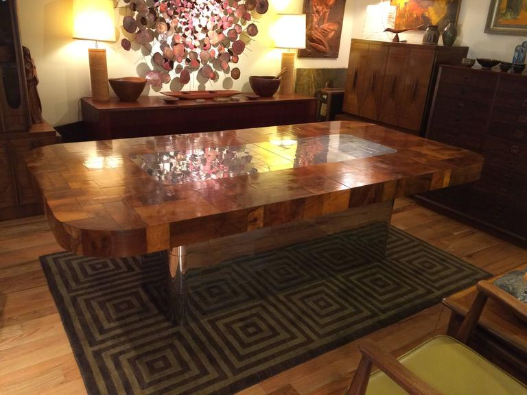 Late 20th Century Paul Evans Cityscape Dining Table for Directional For Sale
