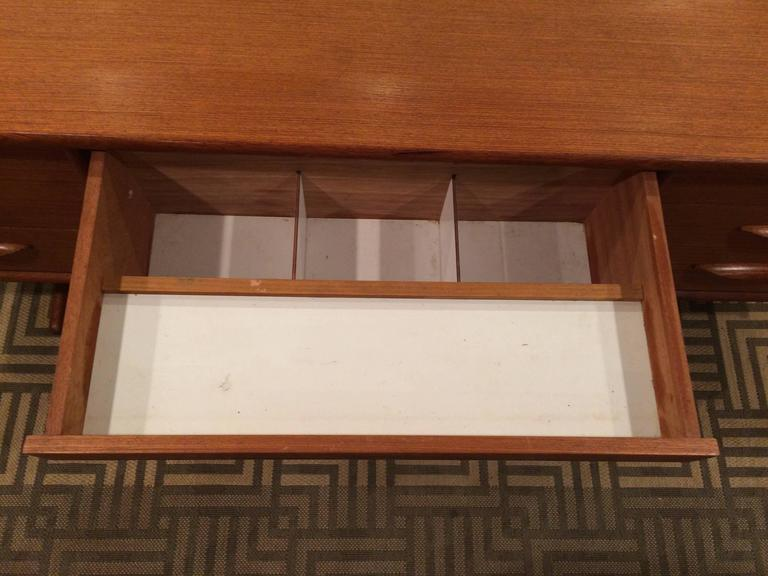 Danish Mid-Century Modern Floating Teak Desk or Vanity 5