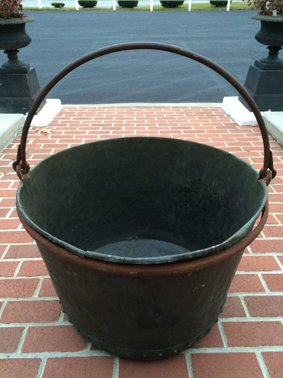 Large Early 19th Century Riveted Copper Log Holder For Sale 7