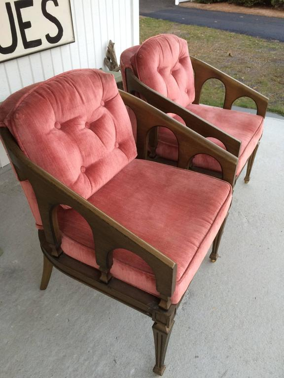 Pair of Hollywood Regency Chairs For Sale 2