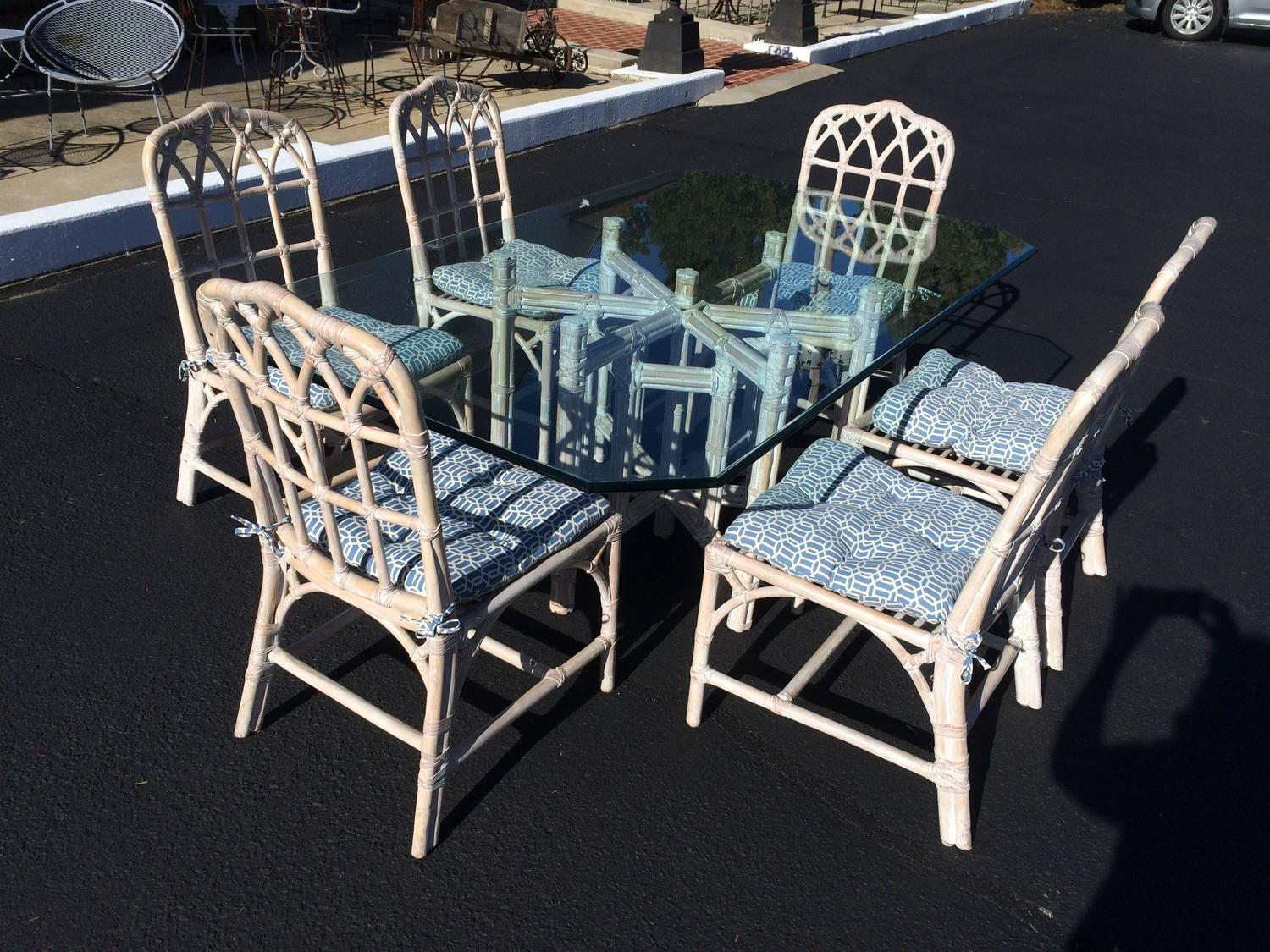 mcguire bamboo chinese chippendale chairs at 1stdibs