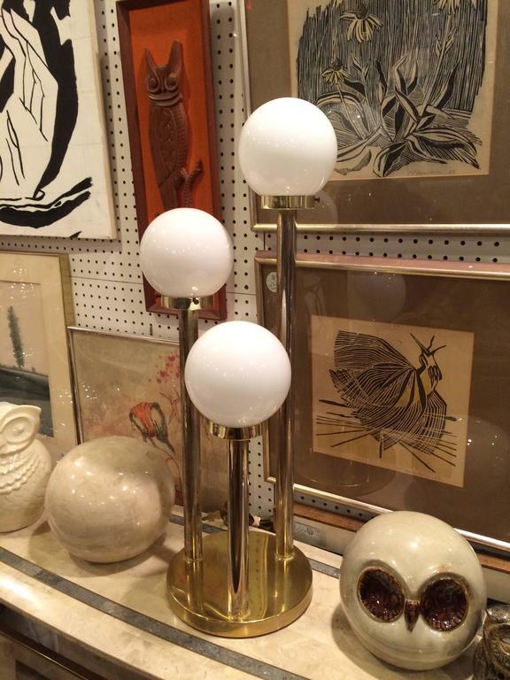 Robert Sonneman Style Lollipop Table Lamp In Brass At 1stdibs