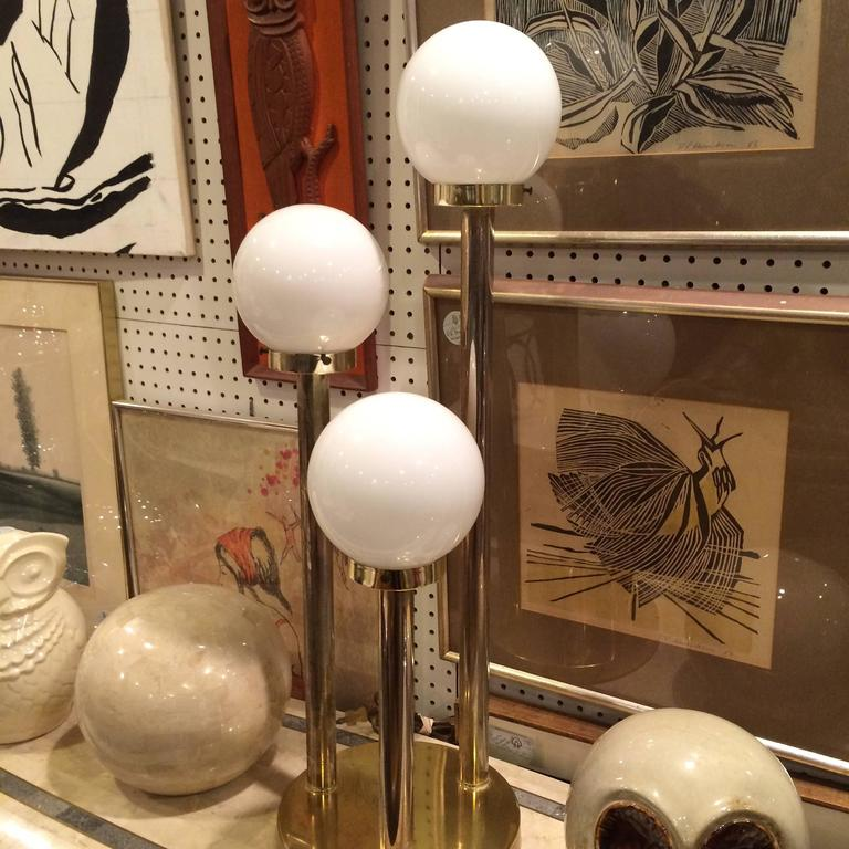 Robert Sonneman Style Lollipop Table Lamp In Brass At 1stdibs