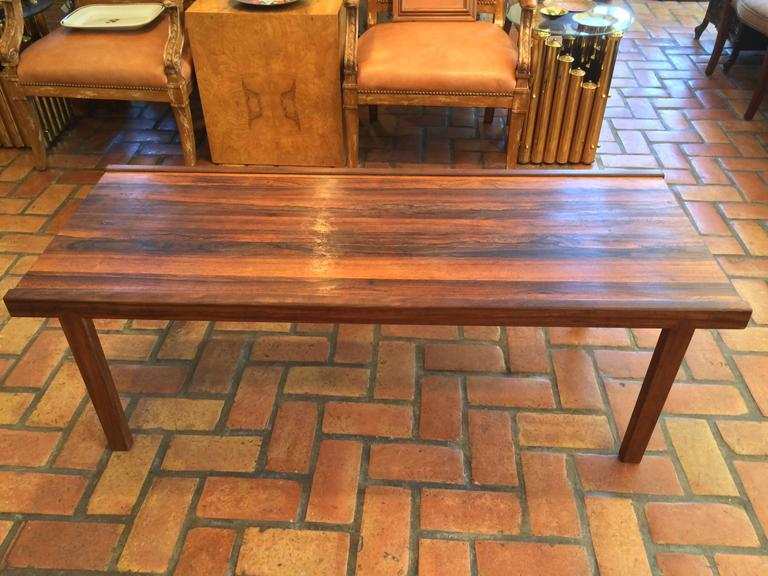 Mid-Century Modern A.H. McIntosh Mid-Century Rosewood Coffee Table For Sale