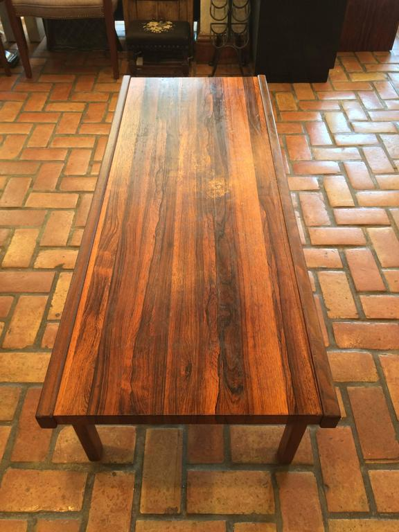 A.H. McIntosh Mid-Century Rosewood Coffee Table In Good Condition For Sale In Redding, CT