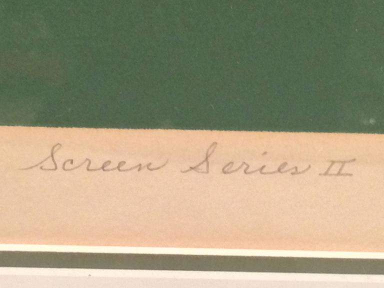 Mid Century Post Modern Silk Screen by Rita Schwartz For Sale 1