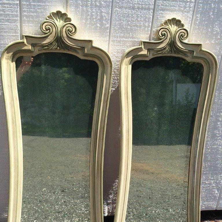 Pair of Hollywood Regency Mirrors For Sale 3