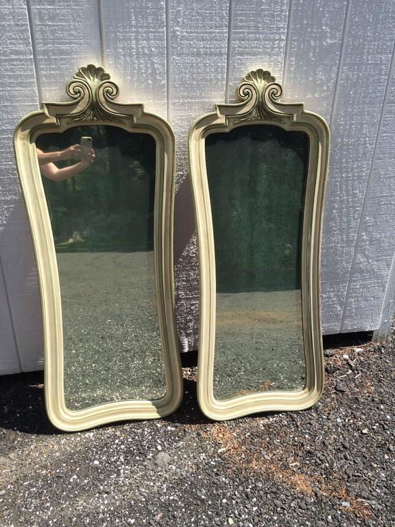 Pair of Hollywood Regency Mirrors For Sale 11