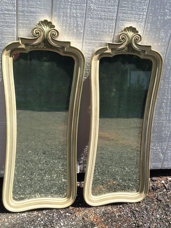 Pair of Hollywood Regency Mirrors For Sale 13