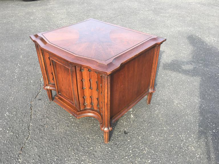 Metal Mid-Century Brutalist Cabinet or End Table For Sale