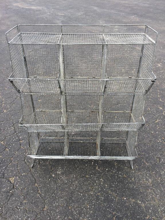 Industrial Style Wire Mesh Storage Bin At 1stdibs