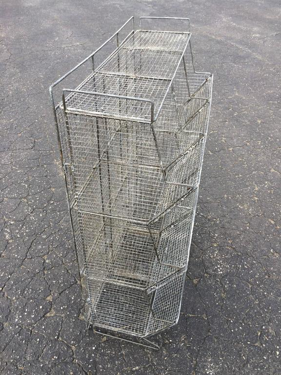 Industrial Style Wire Mesh Storage Bin For Sale 3
