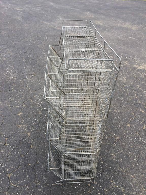 Industrial Style Wire Mesh Storage Bin For Sale 4