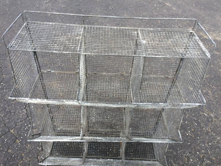 High Quality Metal Industrial Style Wire Mesh Storage Bin For Sale