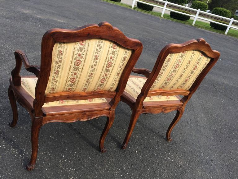 Pair of French Louis XV Style Armchairs For Sale 2