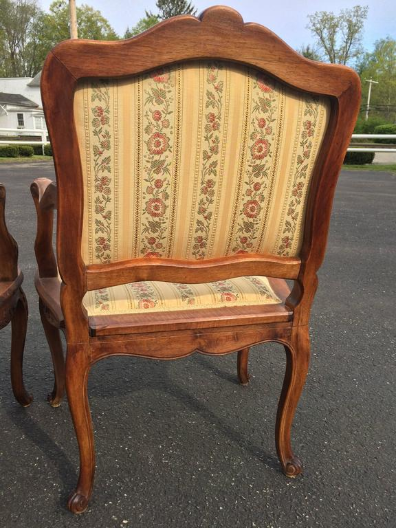 Pair of French Louis XV Style Armchairs For Sale 4