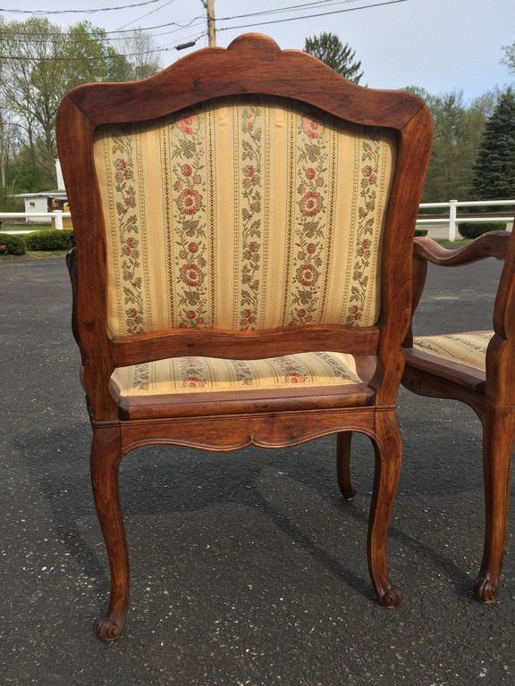 Pair of French Louis XV Style Armchairs For Sale 3
