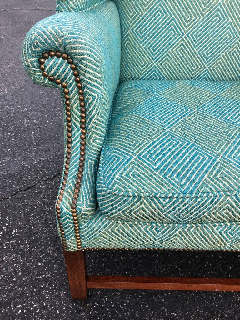Pair of Henredon Wing Back Chairs For Sale 1