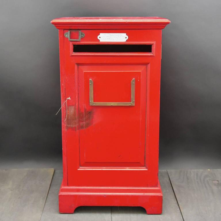 A fantastic painted wooden private post box likely to have been made for a hotel, business, club or a country house. It would have been emptied twice a day and the contents taken to the local Post Office, circa 1925.  Bentleys are Members of LAPADA,