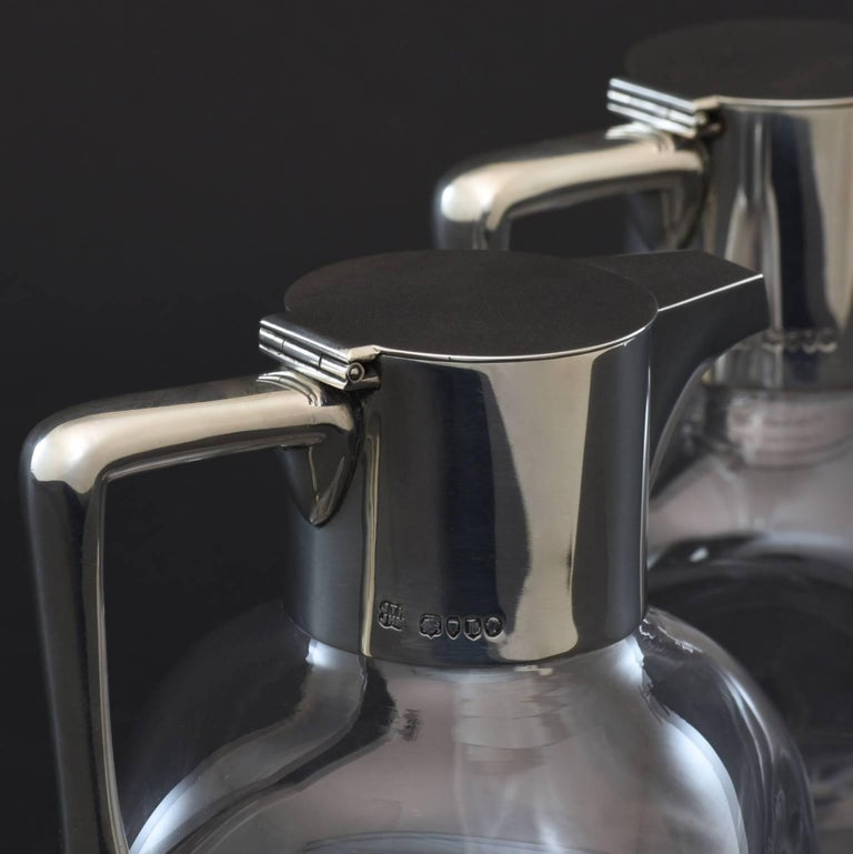 Pair of Silver and Cut-Glass Claret Jugs 8