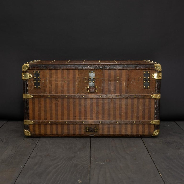 Late 19th Century Rare Striped Louis Vuitton Trunk, circa 1885 For Sale