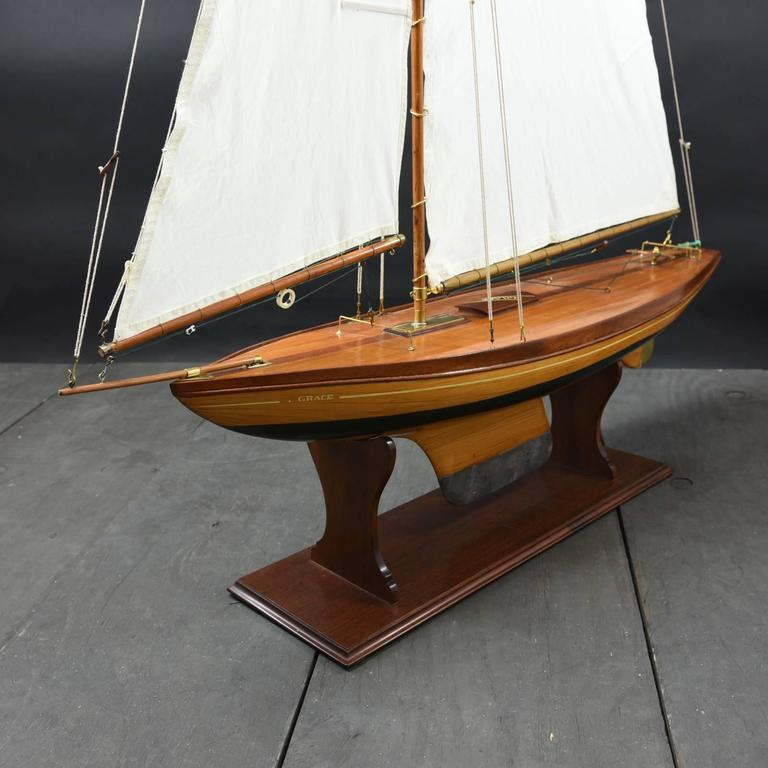 Pond Yacht model 'Grace' c1935 For Sale 1