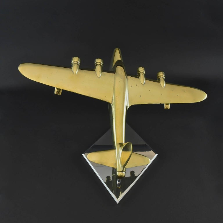 Brass Model of a Sunderland Flying Boat In Excellent Condition For Sale In London, GB