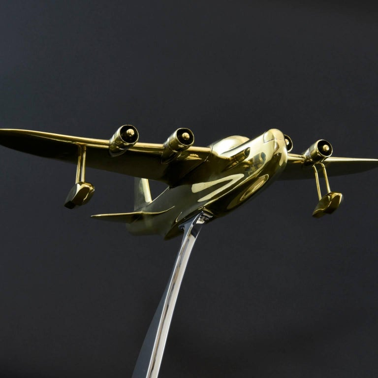 Brass Model of a Sunderland Flying Boat For Sale 1