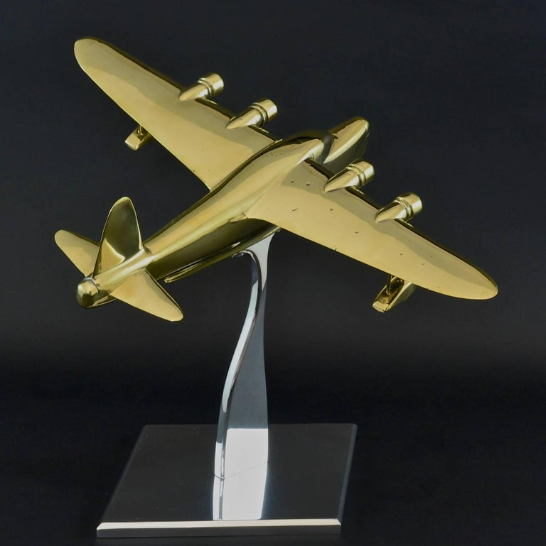 English Brass Model of a Sunderland Flying Boat For Sale