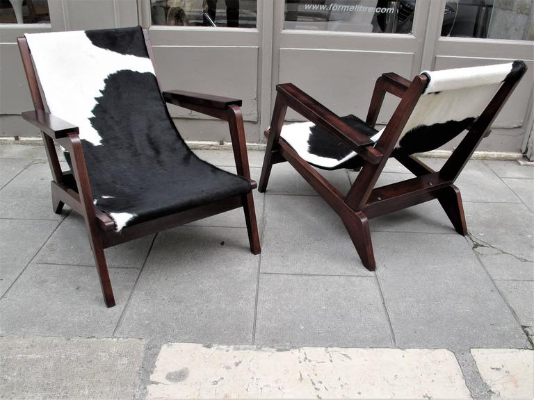 Pierre Jeanneret Style of Armchairs Design 1940 Grenoble 2