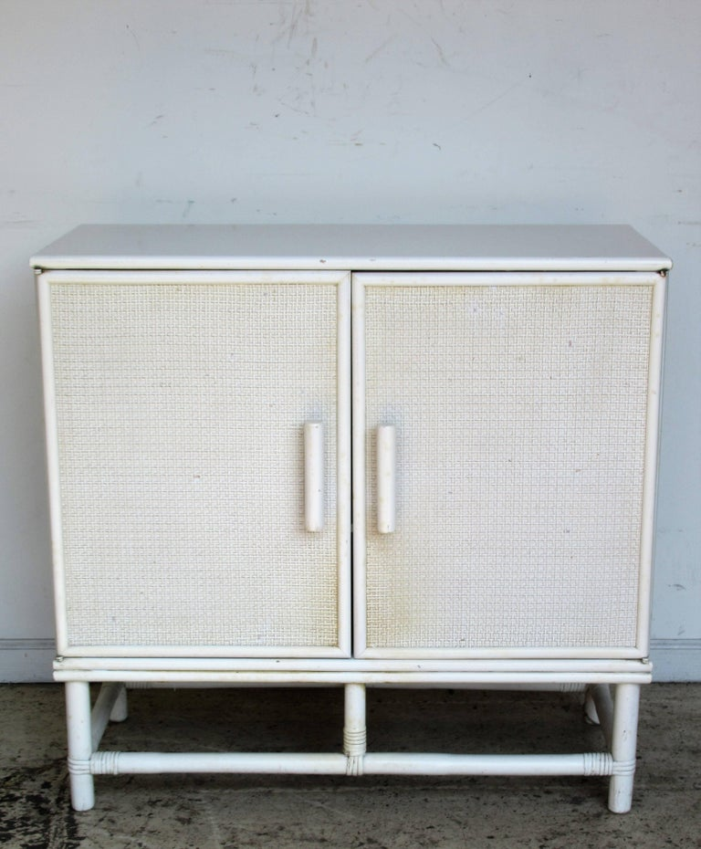 Wicker rattan cabinet for sale at stdibs