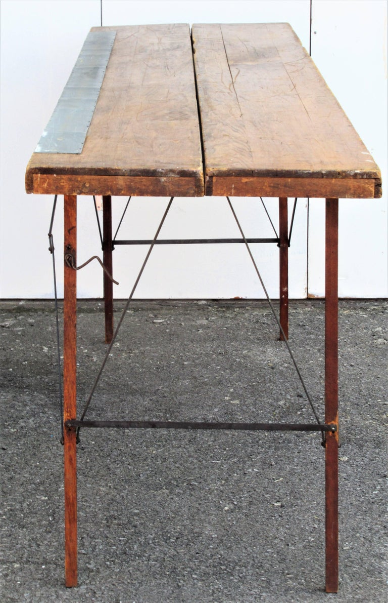 antique folding wallpaper hangers table for sale at 1stdibs. Black Bedroom Furniture Sets. Home Design Ideas