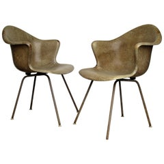 Coles Steel Modernist Fiberglass Bucket Chairs