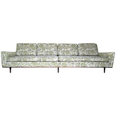 Sleek Elongated Form Sofa in the style of Gio Ponti