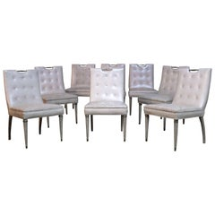 Glamorous Hollywood Regency Dining Chairs, Set of Eight