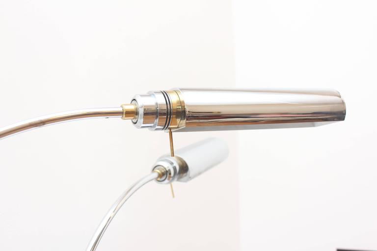 Chrome And Brass Arc Lamps For Lancome For Sale At 1stdibs