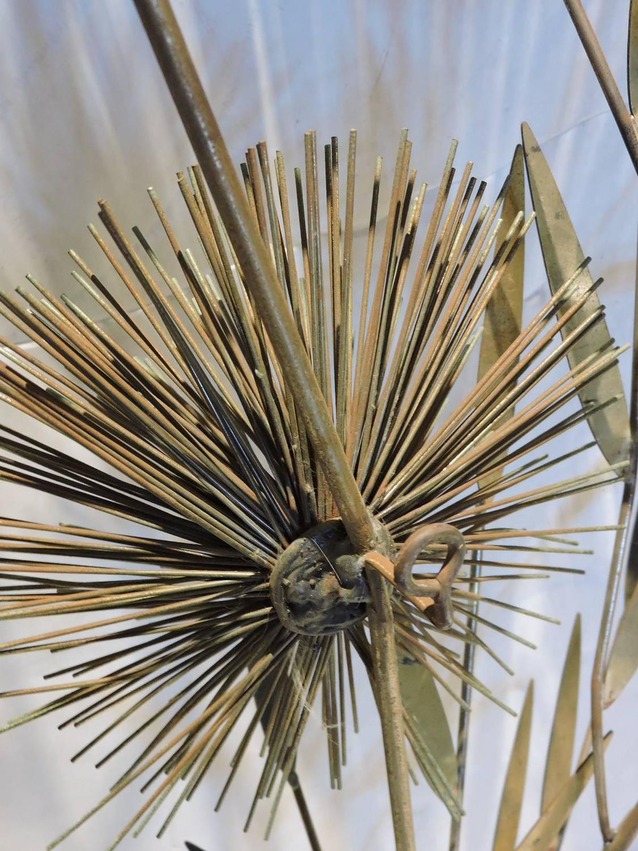 Metal Urchin Wall Decor : Large brass urchin pom tree wall sculpture by curtis