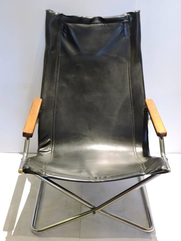 20th Century Japanese Modernist Folding Sling Chair By Uchida For Sale