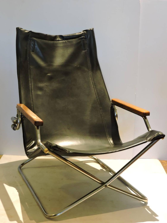 Japanese Modernist Folding Sling Chair By Uchida At 1stdibs