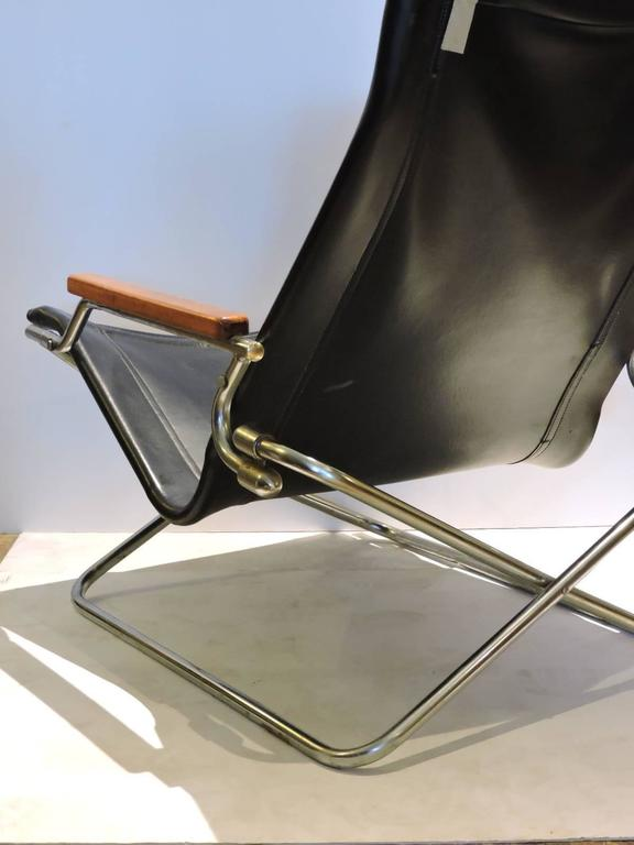Japanese Modernist Folding Sling Chair By Uchida For Sale 1