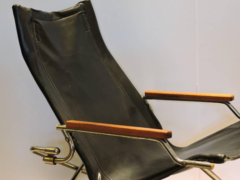 Japanese Modernist Folding Sling Chair by Uchida at 1stdibs
