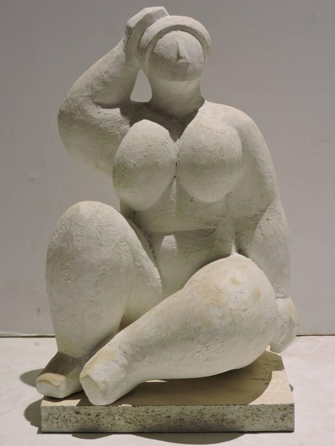 Mid-20th Century Plaster Nude Sculpture Model in the Style