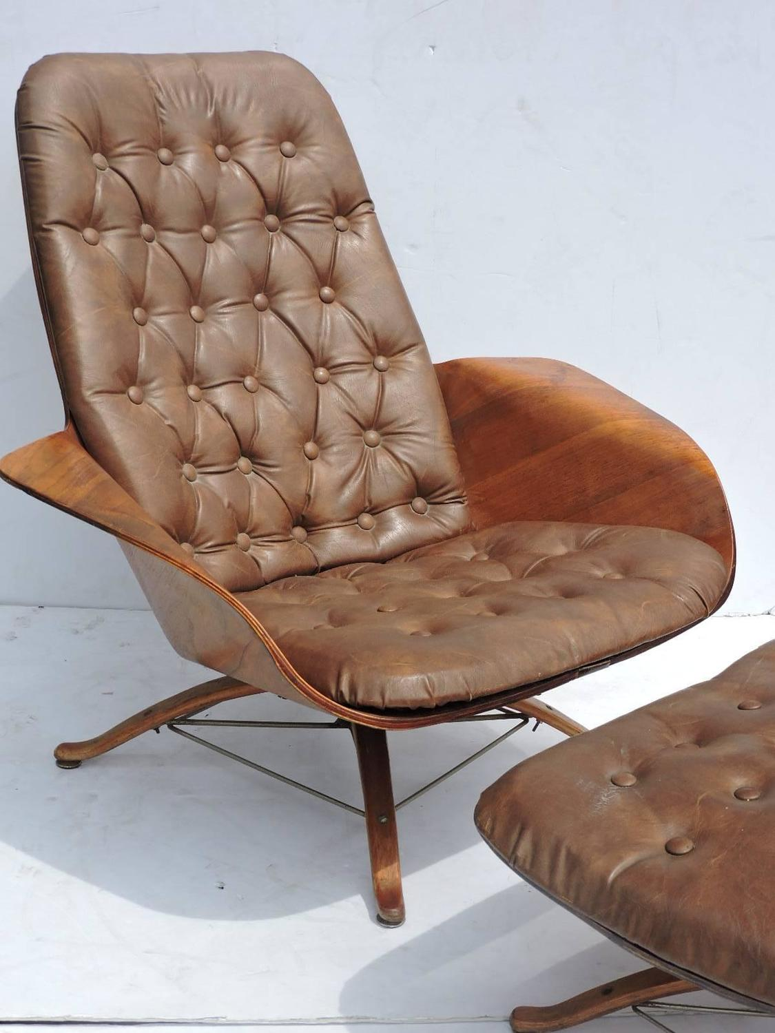 Bentwood Lounge Chair And Ottoman By George Mulhauser For